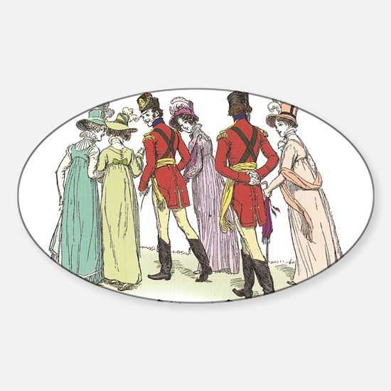 Pride & Prejudice Ch 21a Oval Decal