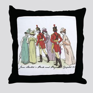 Pride & Prejudice Ch 21a Throw Pillow