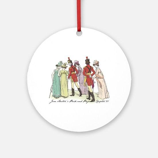 Pride & Prejudice Ch 21a Ornament (Round)