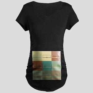 History Pop Art Maternity Dark T-Shirt
