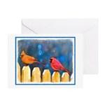 Cardinals in the Snow Christmas Greeting Card