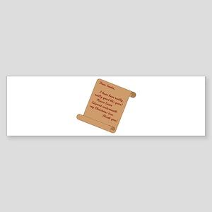 Dear Santa...Edward Bumper Sticker