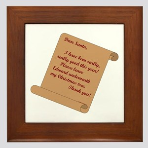 Dear Santa...Edward Framed Tile