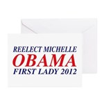 Reelect Michelle First Lady Greeting Cards (Pk of