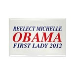 Reelect Michelle First Lady Rectangle Magnet (10 p