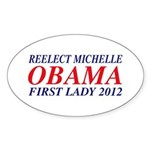 Reelect Michelle First Lady Oval Sticker (10 pk)