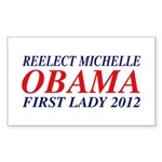 Reelect Michelle First Lady Rectangle Sticker 50