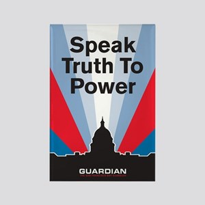 Guardian Speak Truth to Power Rectangle Magnet