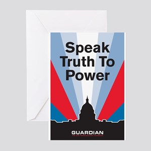 Guardian Speak Truth to Power Greeting Cards (Pk o