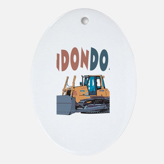 Landondozer the Bulldozer Oval Ornament