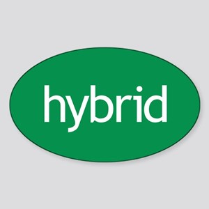 Hybrid green Oval Sticker