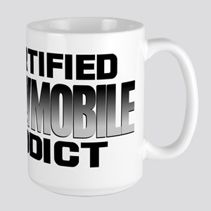 Certified Snowmobile Addict Large Mug