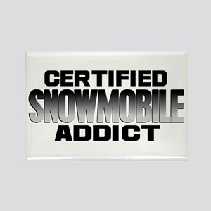 Certified Snowmobile Addict Rectangle Magnet