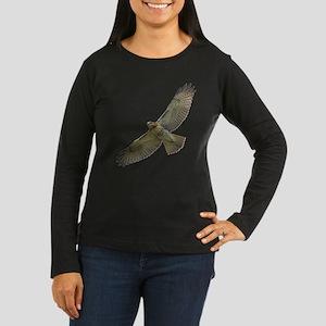 Soaring Red-tail Hawk Women's Long Sleeve Dark T-S