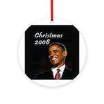 Barack Obama Christmas Ornament (Round)