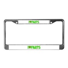 I Love-Alien Farts License Plate Frame