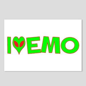 I Love-Alien Emo Postcards (Package of 8)