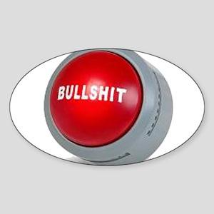 bullshitbutton Oval Sticker