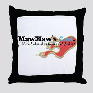 MawMaw's Hot Flashes Throw Pillow