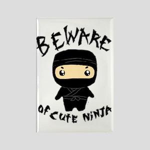 Cute Ninja Rectangle Magnet