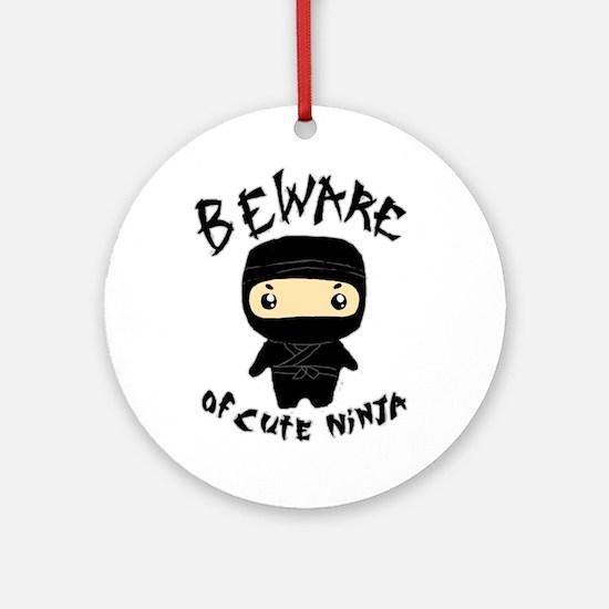 Cute Ninja Ornament (Round)