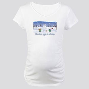 in winter Maternity T-Shirt