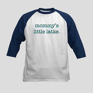 Mommy's Little Latke Kids Baseball Jersey