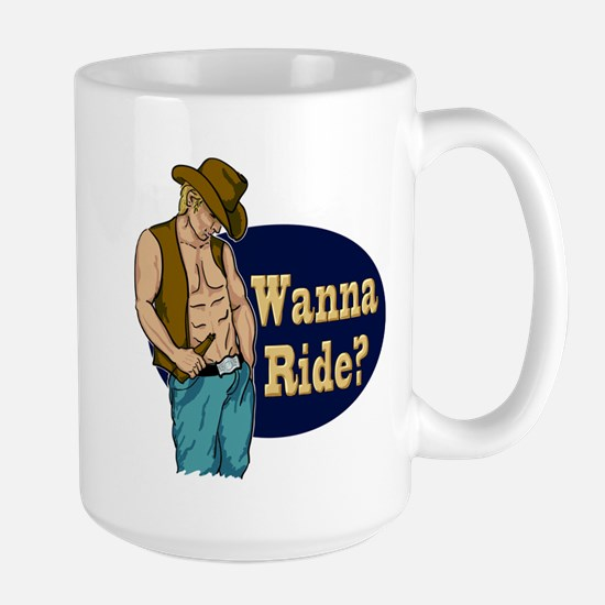 White Male Wanna Ride Large Mug