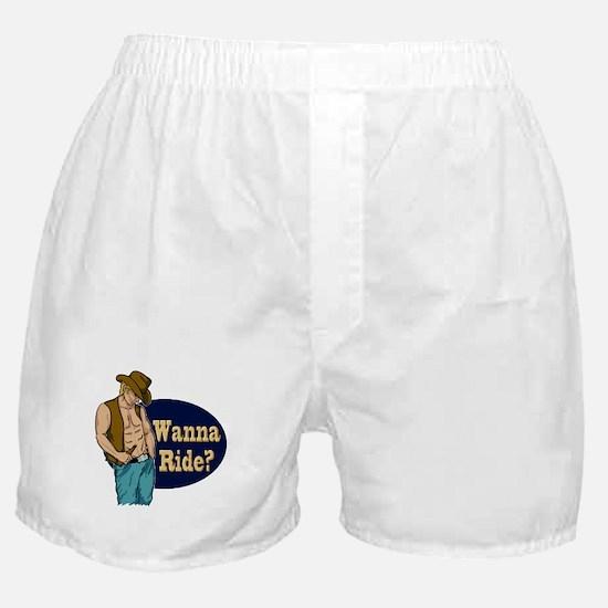 White Male Wanna Ride Boxer Shorts