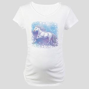 Unicorn Over The Rainbow Maternity T-Shirt