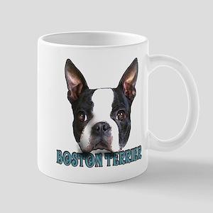 Boston Terrier Aqua Letters Mug