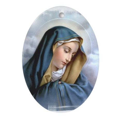 Our Lady of Sorrows Ornament (Oval)