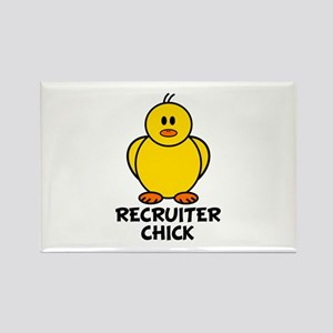 Recruiter Chick Rectangle Magnet