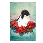 Rabbit in Poinsettia Postcards (Package of 8)