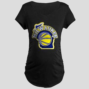 Milwaukee Basketball Maternity Dark T-Shirt