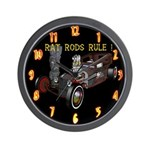 Rat Rods Rule! Wall Clock