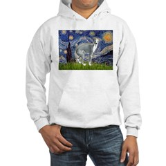Starry Night/Italian Greyhoun Hoodie
