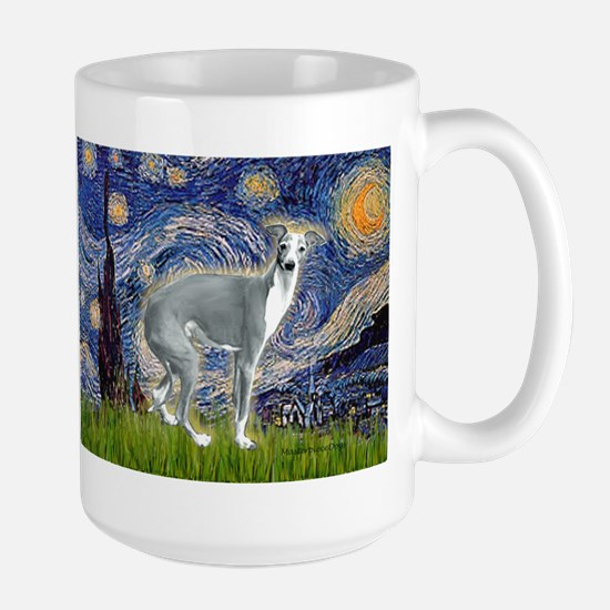 Starry Night/Italian Greyhoun Large Mug