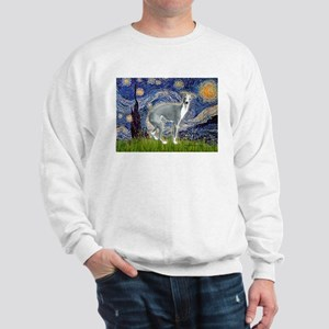 Starry Night/Italian Greyhoun Sweatshirt