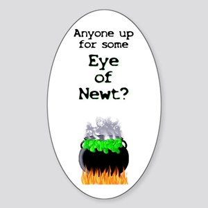 Anyone Up for Some Eye of Newt? Oval Sticker