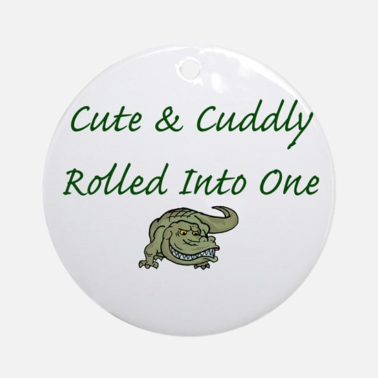Cute & Cuddly Ornament (Round)