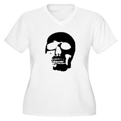Black and White Goth Skull T-Shirt