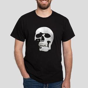 Black and White Goth Skull Dark T-Shirt