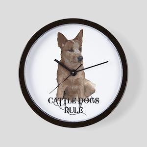 Cattle Dogs Rule Wall Clock