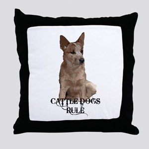 Cattle Dogs Rule Throw Pillow