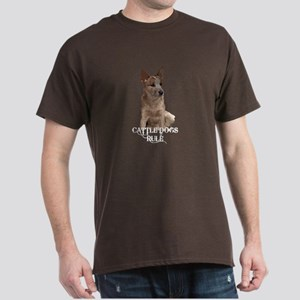 Cattle Dogs Rule Dark T-Shirt