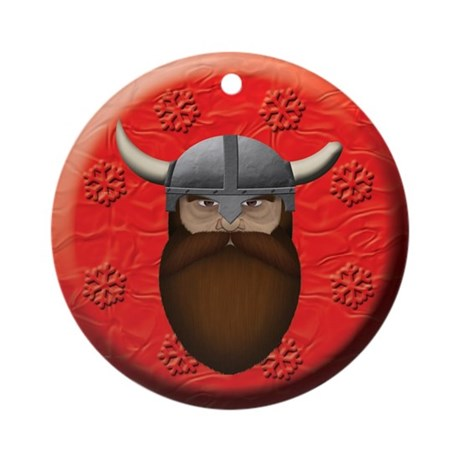 Dwarf Head Ornament (Round)