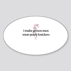 Poofy Knickers Oval Sticker