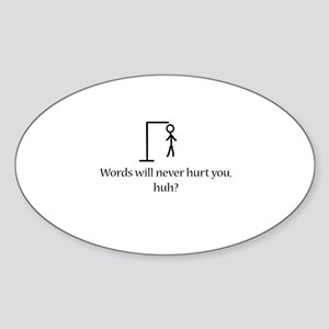 Hang Man Oval Sticker