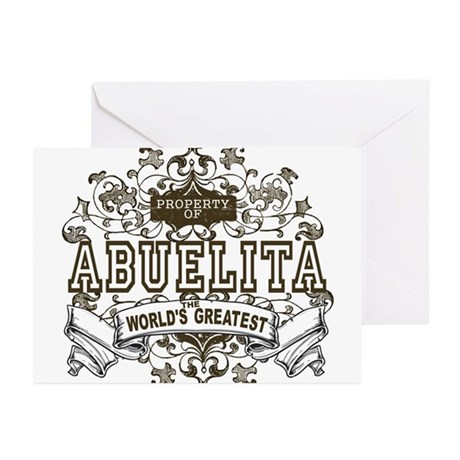Property Of Abuelita Greeting Cards (Pk of 10)